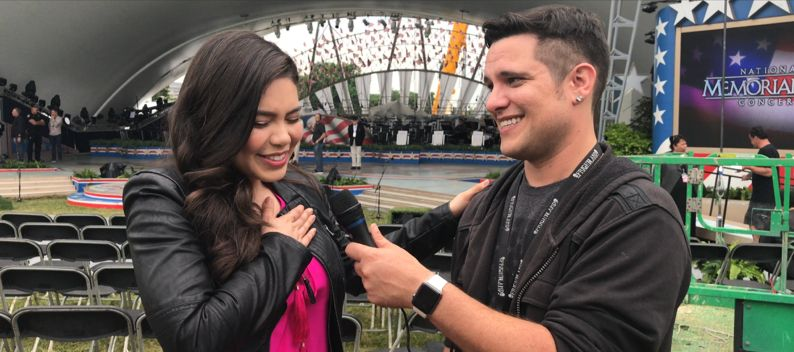 Auli'i Cravalho speaks with Kyle McMahon for PBS National Memorial Day Concert 2017 on Kyle2U.