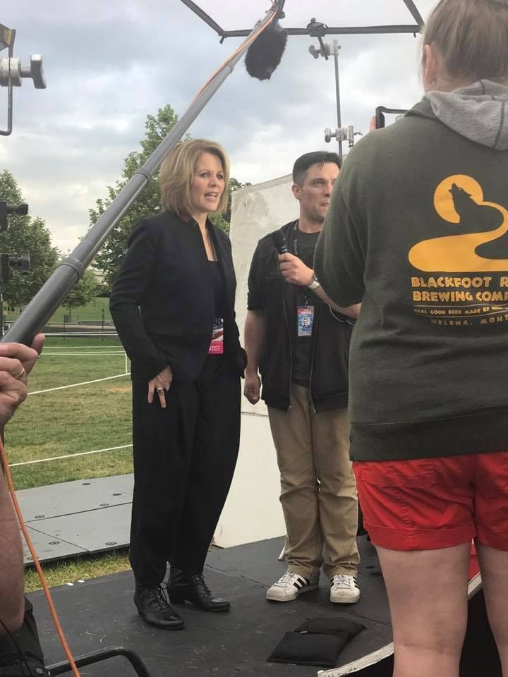 4 time Grammy Award Winner and National Medal of Arts awardee Renee Fleming with Kyle McMahon at PBS National Memorial Day Co
