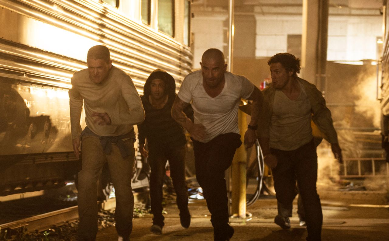 "Wenworth Miller, Kunal Sharma, Dominic Purcell and Augustus Prew in ""Prison Break."""