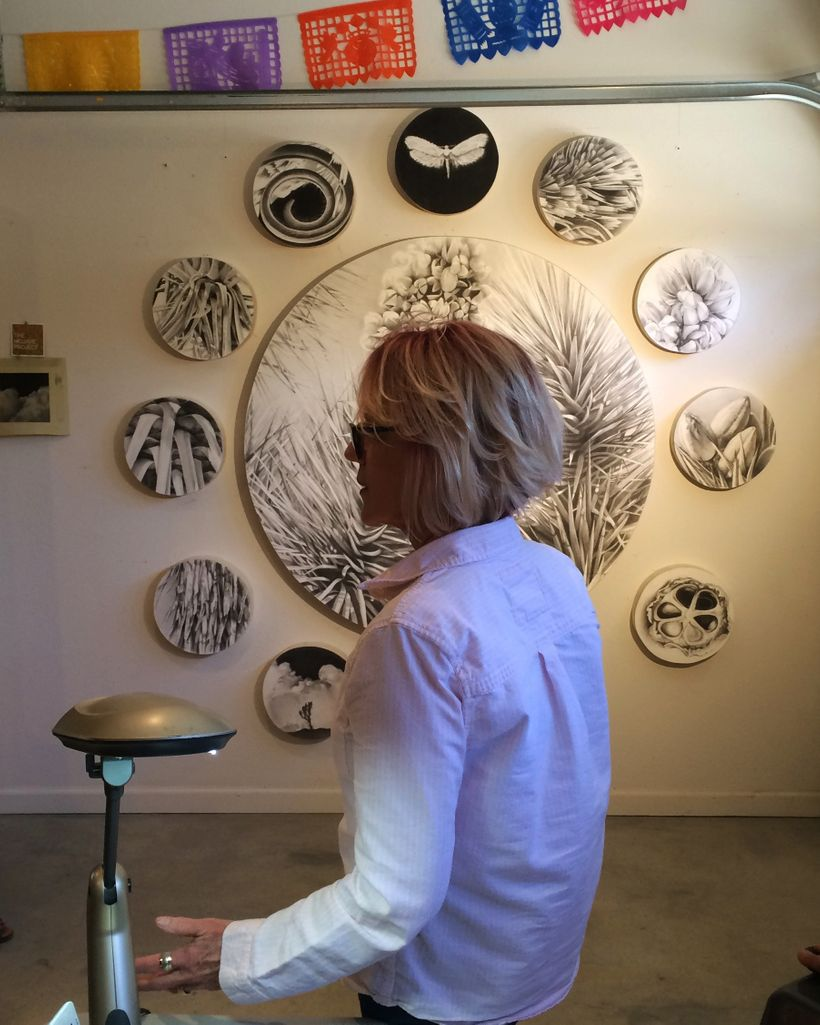 Catherine Ruane in her studio