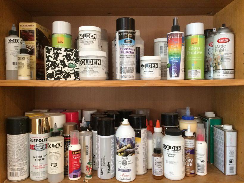 Catherine's supply shelf