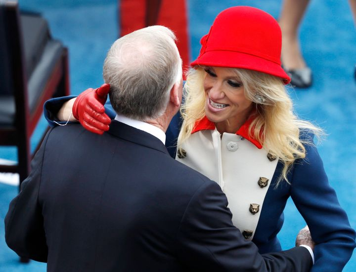 Kellyanne Conway turns up the color at Donald Trump's inauguration.