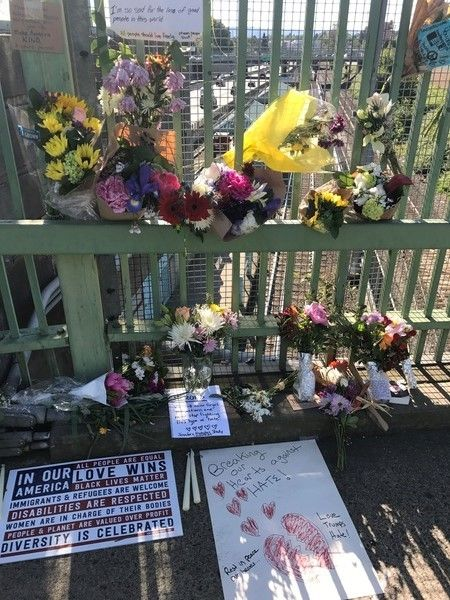 Memorial at Hollywood Transit Center in Portland, OR.