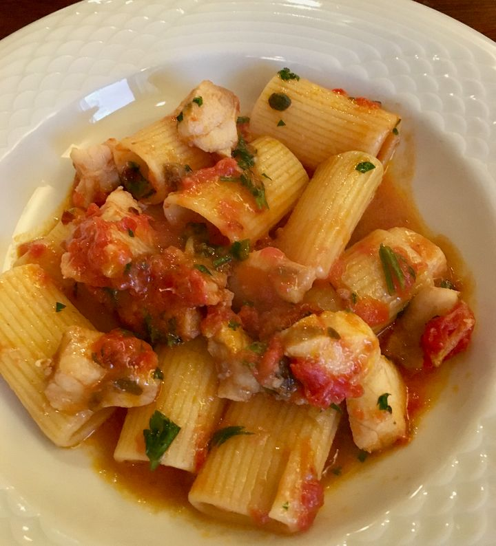 <p>Rigatoni with monkfish</p>