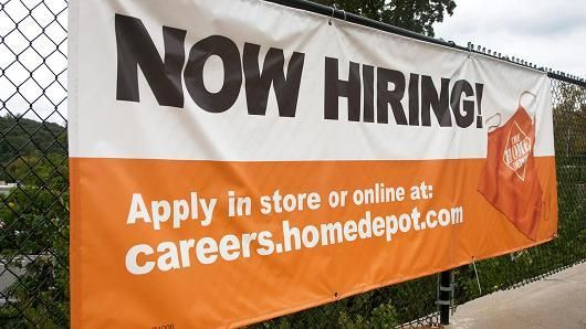 Home Depot is hiring.