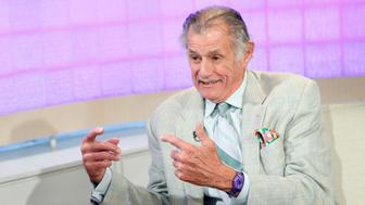 TODAY -- Pictured: (l-r) Matt Lauer and Frank Deford appear on NBC News' 'Today' show  (Photo by Peter Kramer/NBC/NBCU Photo Bank via Getty Images)