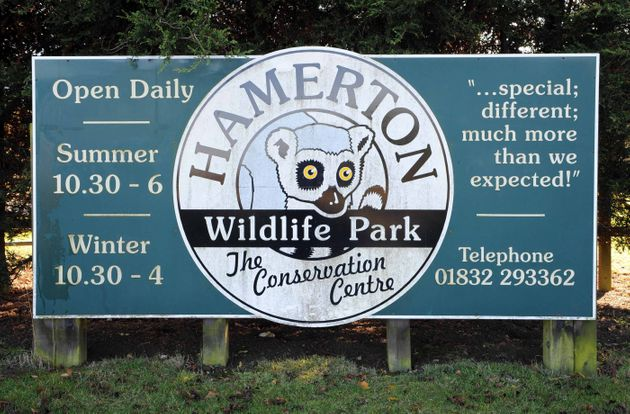 The scene at Hamerton Zoo Park after it was