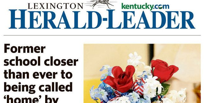 The front page of the May 29 edition of the Lexington Herald-Leader.