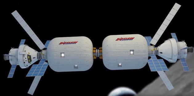 An illustration of Bigelow Aerospace's expandable