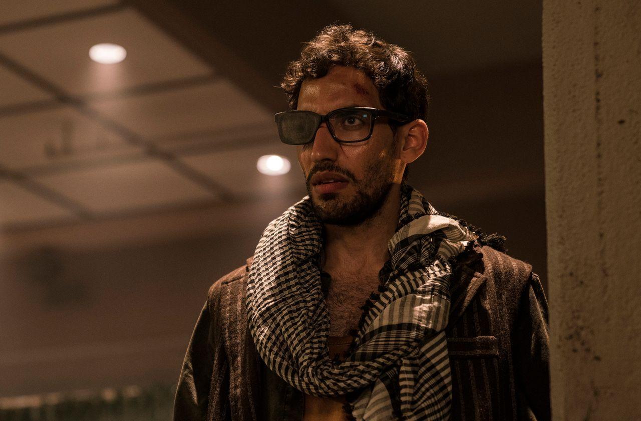 "Amin El Gamal as Cyclops in ""Prison Break."""