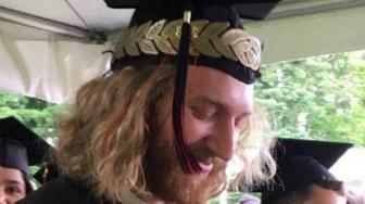 Stabbing victim Namkai-Meche at his college graduation