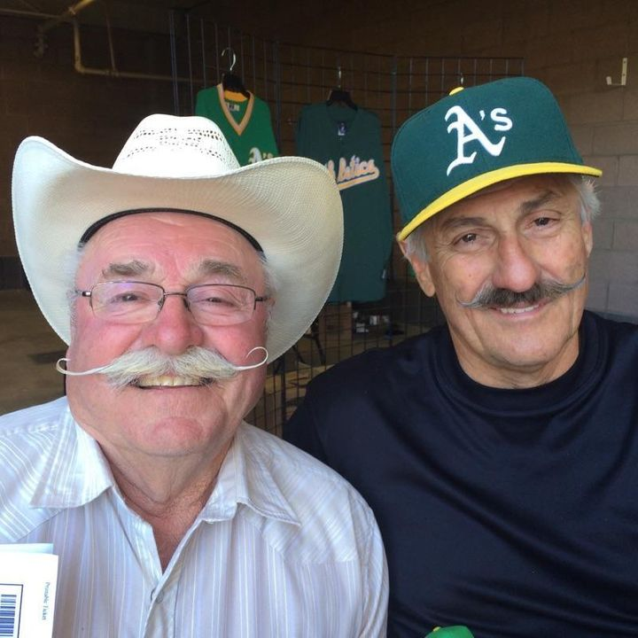 My dad with baseball great, Rollie Fingers