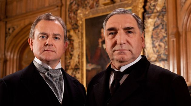 Jim Carter (right) and Hugh Bonneville were two of the many stars of the hit