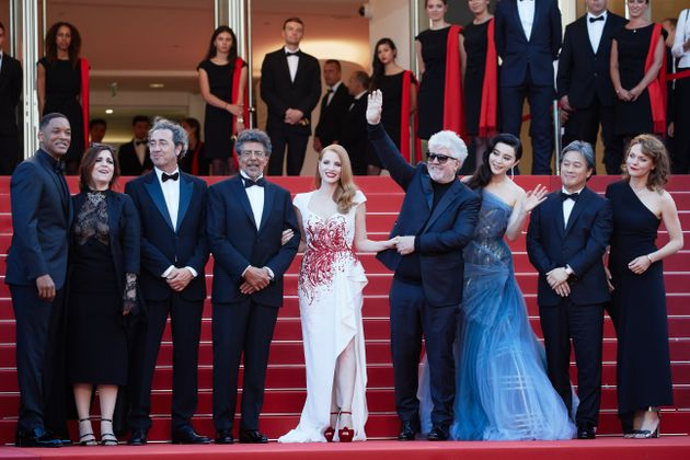 Jessica and the rest of the Cannes jury on Sunday (28