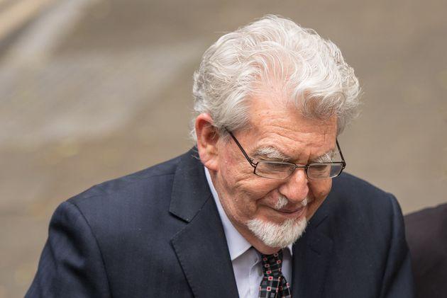 Rolf Harris arriving at Southwark Crown Court last
