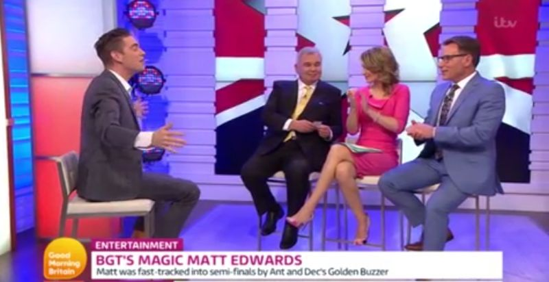 'BGT' Magician Matt Edwards' Magic Trick Goes Horribly Wrong On 'Good Morning