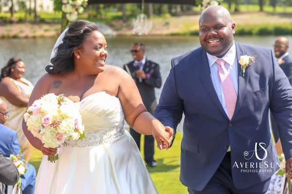 """""""It was an emotional day to see Sean and Renesha become one. Blissfully beautiful."""" --<i> Heather</i>"""
