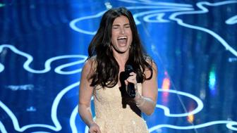 HOLLYWOOD, CA - MARCH 02:  Actress/singer Idina Menzel performs onstage during the Oscars at the Dolby Theatre on March 2, 2014 in Hollywood, California.  (Photo by Kevin Winter/Getty Images)