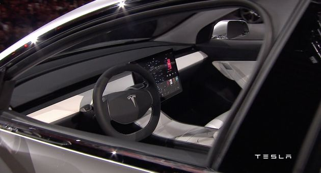 Tesla's Model 3 Dashboard Is A Glimpse Of The
