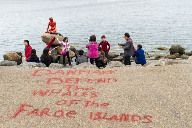 Iconic Little Mermaid Statue Vandalized In Whale Hunting