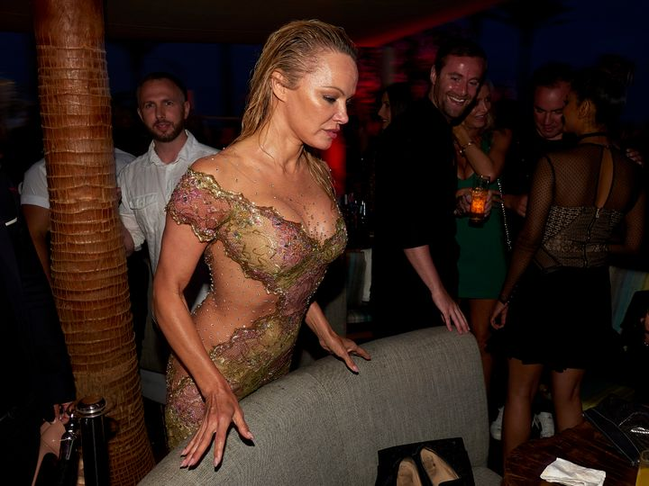 Actress Pamela Anderson at 'Playa Padre' in Cable Beach on May 27.