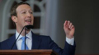 Facebook founder Mark Zuckerberg speaks during the Alumni Exercises following the 366th Commencement Exercises at Harvard University in Cambridge, Massachusetts, U.S., May 25, 2017.   REUTERS/Brian Snyder