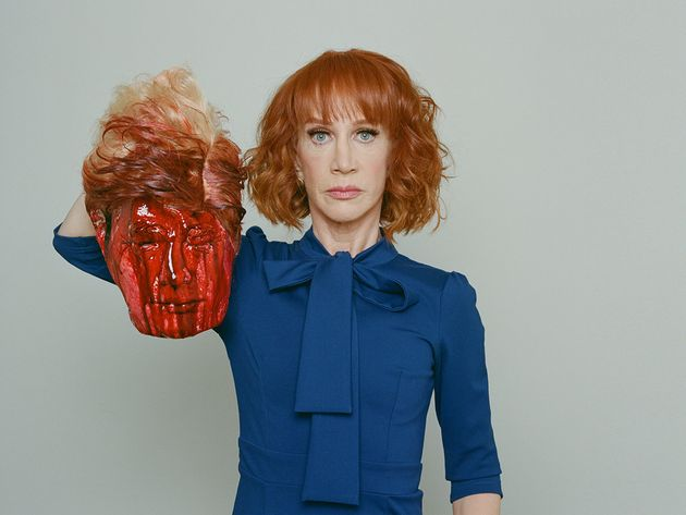So, Here's Kathy Griffin Holding A Very Fake, Very Bloody Donald Trump