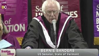 Sen Bernie Sanders I-Vt delivered a commencement address at Brooklyn College on Tuesday May 30 2017