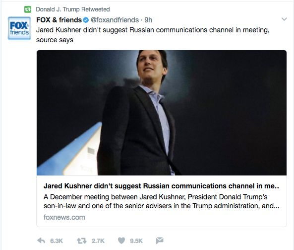 White House Dodges Questions About Kushner's Meetings With