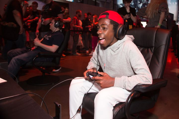 Caleb McLaughlin loving that gaming life.