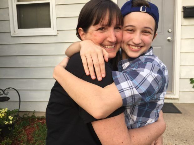 Ashton Whitaker, pictured here with his mother Melissa Whitaker, convinced a federal appeals court that both federal law and