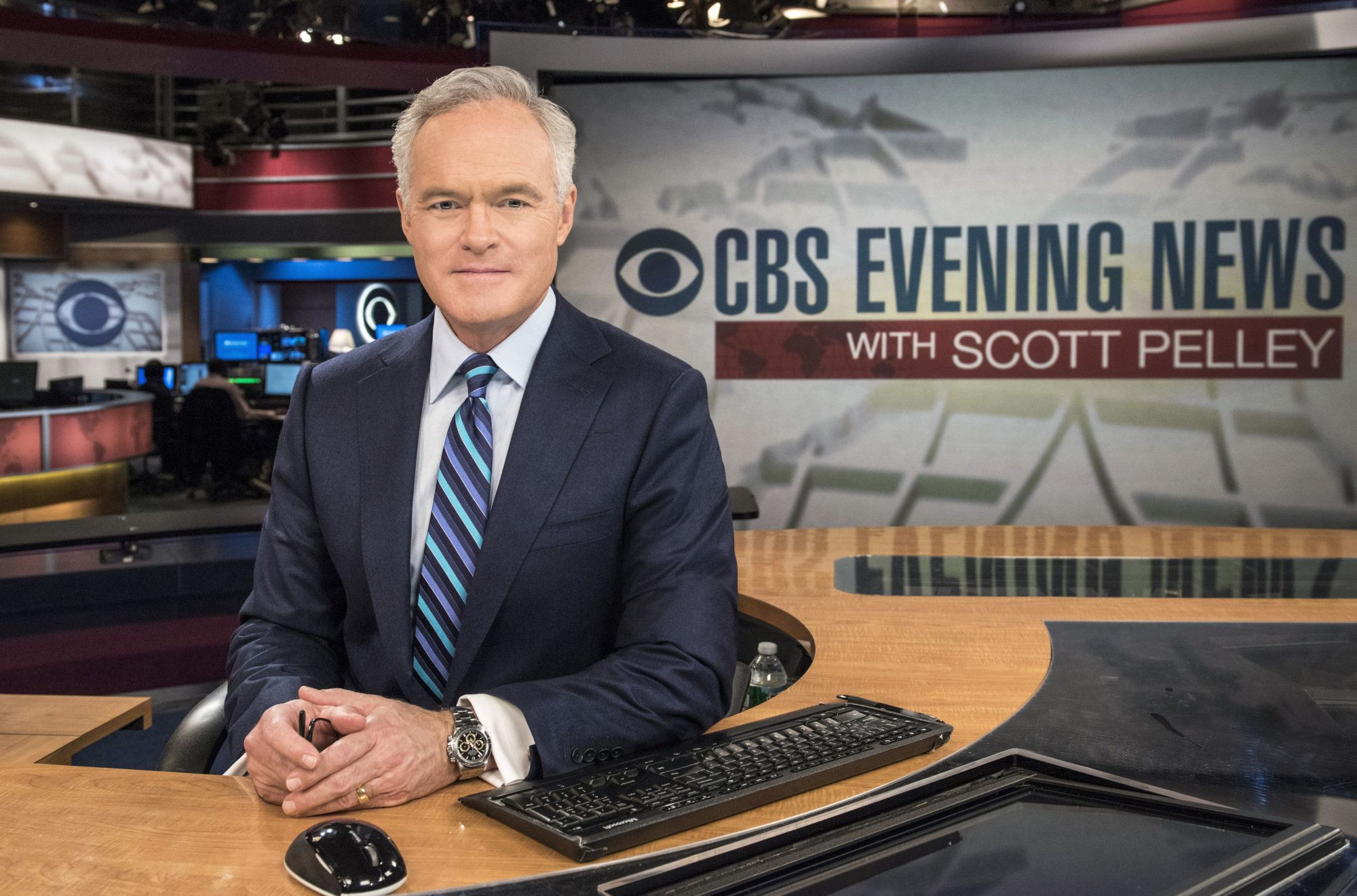 NEW YORK - MARCH 23: CBS  Evening News with Scott Pelley nears its fifth anniversary on air.  (Photo by John Paul Filo/CBS via Getty Images)