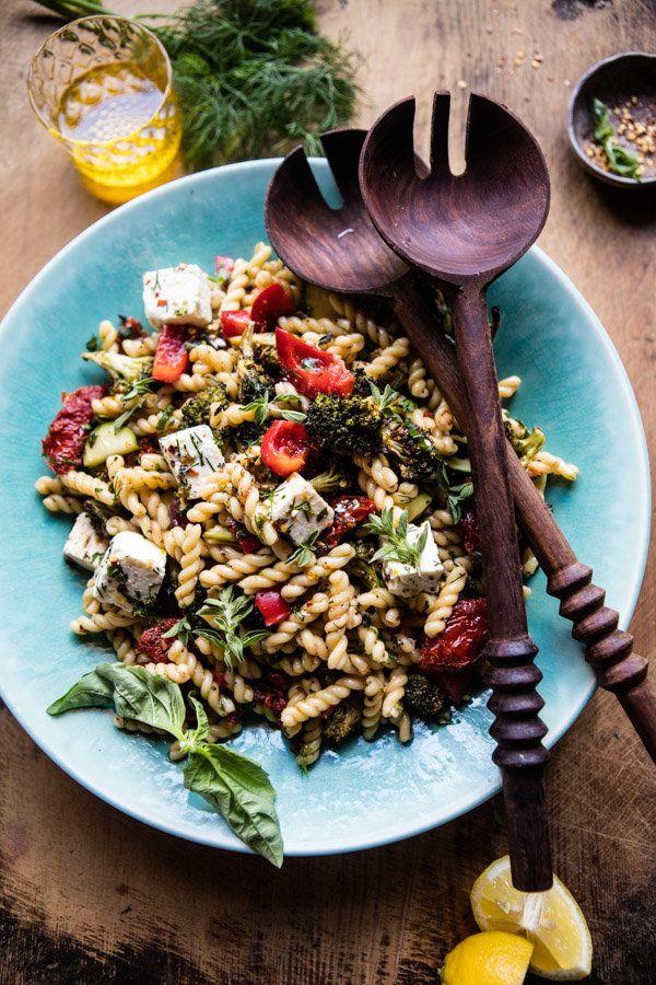 "<strong>Get the <a href=""https://www.halfbakedharvest.com/greek-lemon-roasted-broccoli-pasta-salad/"" target=""_blank"">Greek Le"