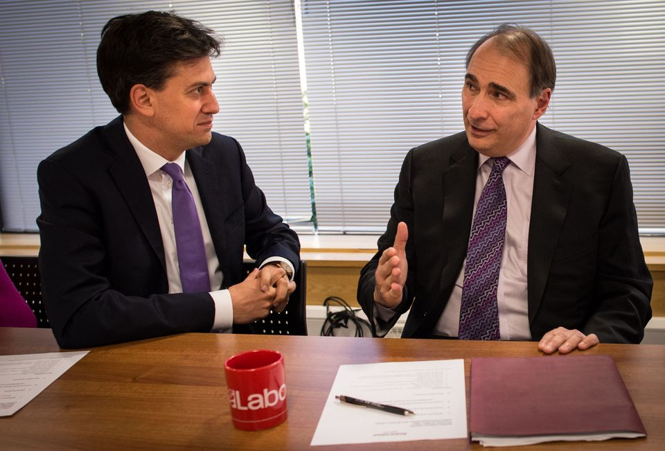 Ed Miliband with David Axelrod, a former adviser to Barack