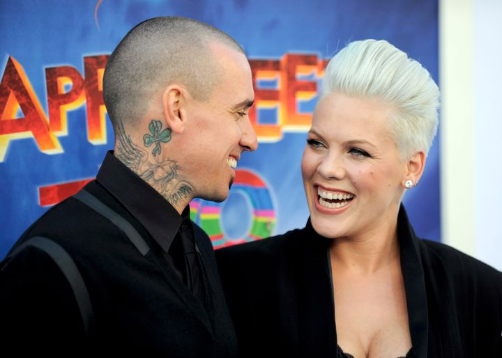 """Pink's husband, Carey Hart, gave her a special """"push present."""""""