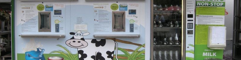 <strong>Pick up a bottle of raw milk from vending machines throughout Europe.</strong>