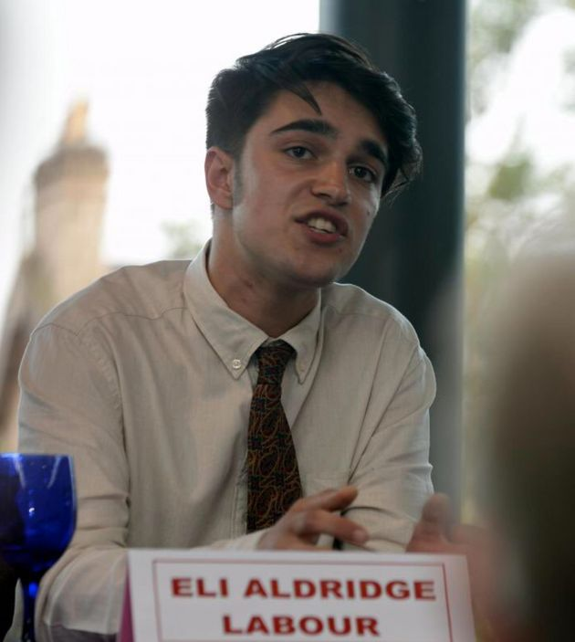 Eli Aldridge is thought to be the youngest electioncandidate in