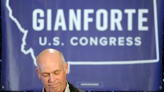Representative elect Greg Gianforte delivers his speech during a special congressional election called after former Rep. Ryan Zinke was appointed to lead the Interior Department, in Bozeman, Montana, U.S., May 25, 2017. REUTERS/Colter Peterson