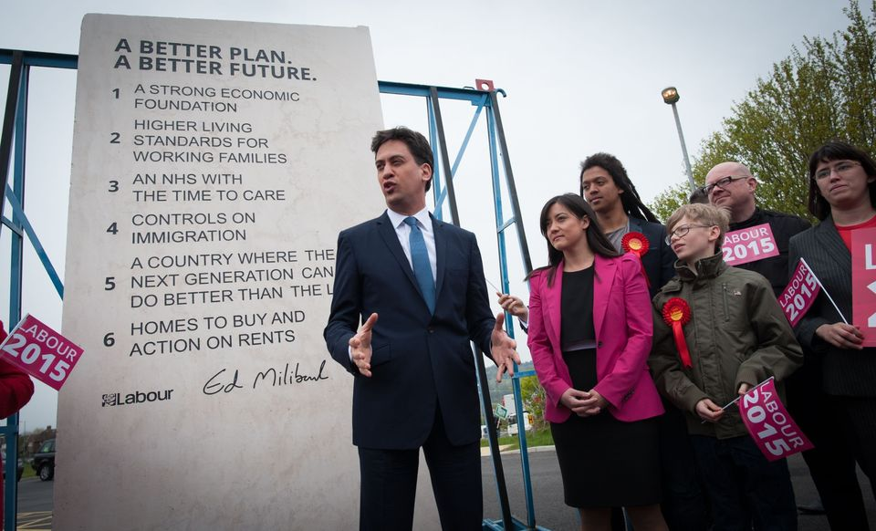 Ed Miliband unveils the 'heaviest suicide note in