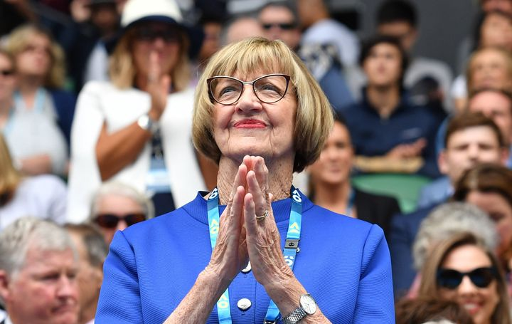 Margaret Court, pictured at the Australian Open in January, is facing serious backlash from the tennis community.