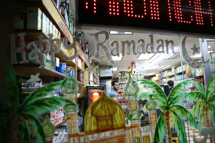 American Muslims shop owner waits for customers as he sells different types of lanterns for sale as part of preparations for the Holy Month of Ramadan in Bayridge neighborhood in Brooklyn borough of New York, United States on May 24, 2017.