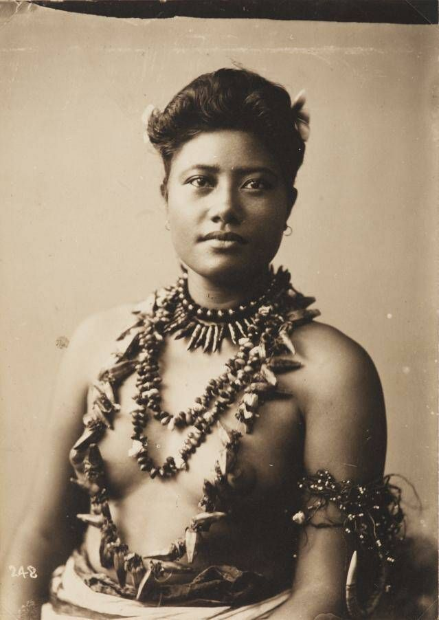This photo has no relationship to the article, it's just a cool old photo of a Samoan woman.