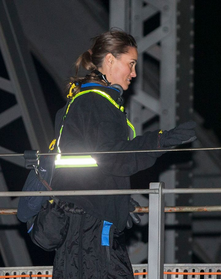 Pippa Middleton and husband James Matthews do the Sydney Harbour Bridge Climb on their honeymoon in Australia.