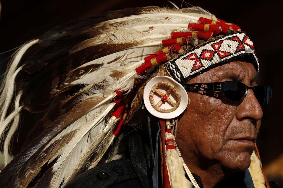 Chief Arvol Looking Horse of Green Grass South Dakota, who is the spiritual leader of the Lakota, Dakota and Nakota Sioux Nat