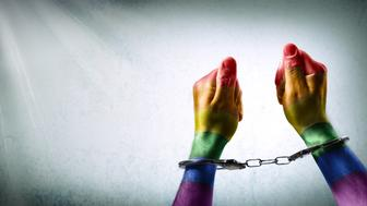 handcuffed hands -  discrimination concept