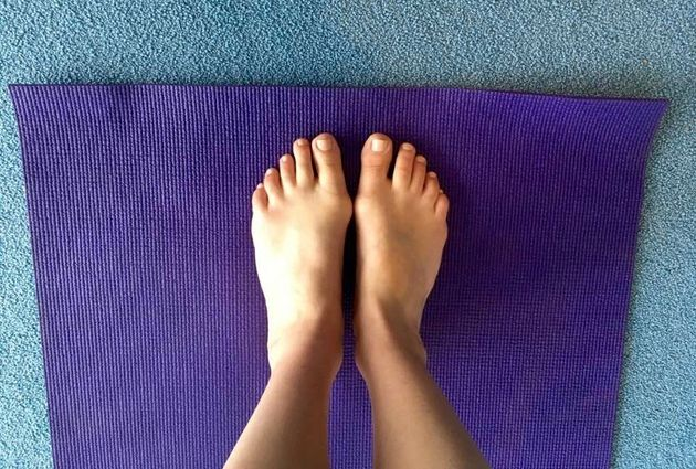 Just putting my feet on my yoga mat makes me feel calm at this