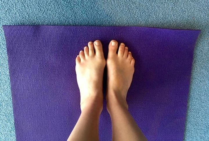 Just putting my feet on my yoga mat makes me feel calm at this point.