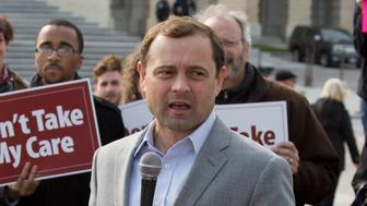WASHINGTON, DC - MARCH 24:  Tom Perriello speaks at the 'Kill The Bill' Rally To Demand The House GOP Vote 'No' On Trumpcare at the United States Capitol Building on March 24, 2017 in Washington, DC.  (Photo by Tasos Katopodis/Getty Images for MoveOn.org)