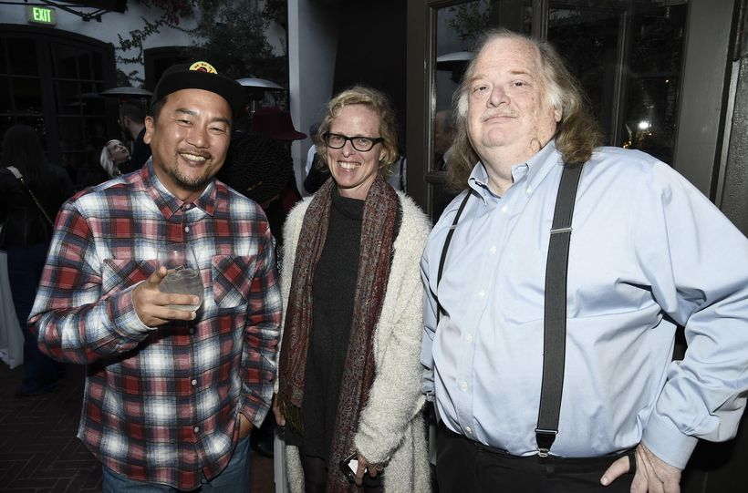 """Chef Roy Choi, Amy Scattergood & <a rel=""""nofollow"""" href=""""http://www.latimes.com/food/jonathan-gold/"""" target=""""_blank"""">Jonathan"""
