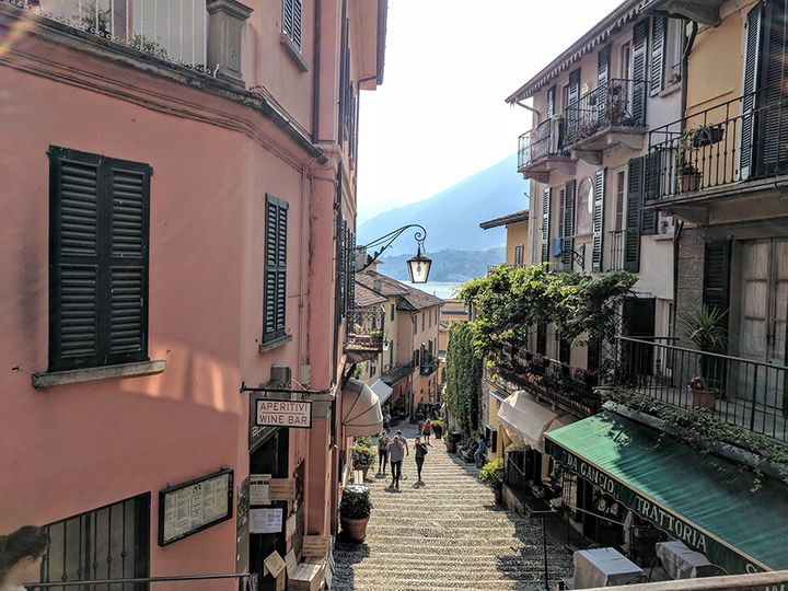 Bellagio, with Lake Como in distance.